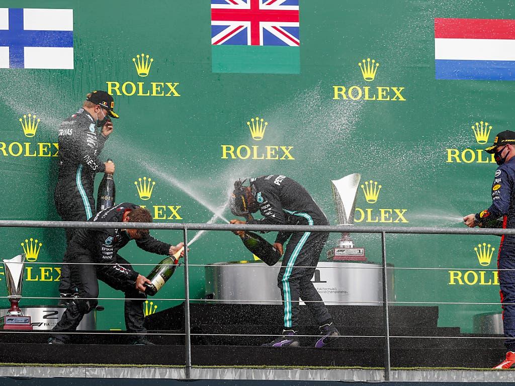 Champagner ist bei der Siegerehrung in der Formel 1 längst wieder erlaubt
