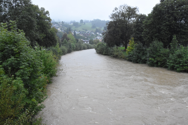 Die Thur, aufgenommen in Wattwil.