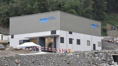 Am «Tag der offenen Baustelle» konnten Besucher den Fortschritt des KraftwerksErstfeldertalbestaunen. (Bild: Georg Epp (Erstfeld, 29.08.2020))