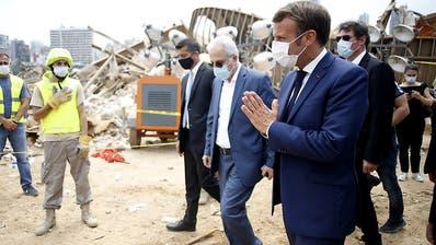 Frankreichs Präsident Macron reist erneut nach Beirut
