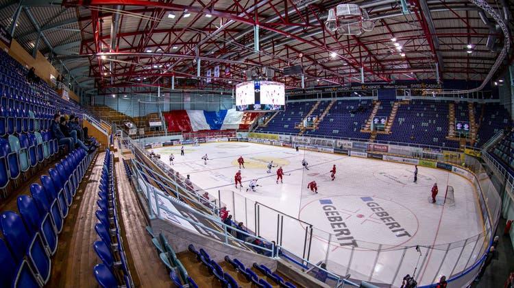 Geisterspiel zwischen Rapperswil-Jona und Lugano (Patrick B. Kraemer / KEYSTONE (Rapperswil-Jona, 28. Februar 2020))