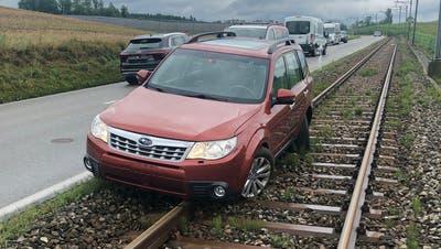 Bahnstrecke im Seetal wegen Unfall unterbrochen