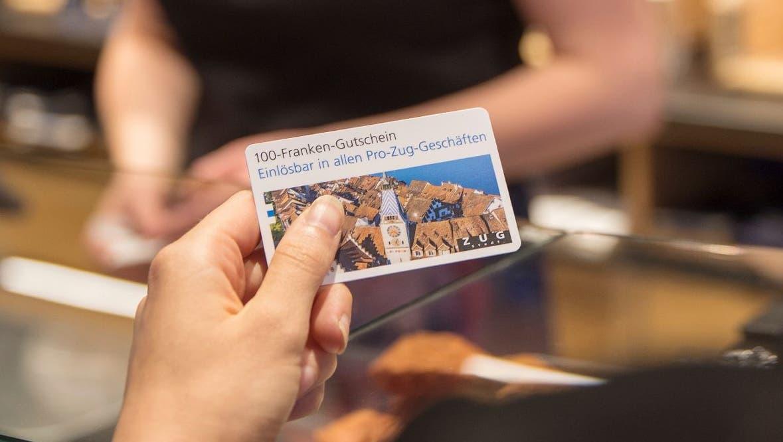 100 Franken für die Stadtbevölkerung: Die Gutscheine der Stadt Zug geben zu reden
