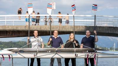 Drei Generationen stark am Ruder: v.l. Ivo, Beat, Nicole Limacher-Mundhaas und Marco. (Patrick Huerlimann (Luzern, 29. Juli 2020))