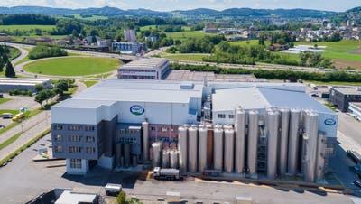 Die Züger Frischkäse AG in Oberbüren ist heute der fünftgrösste Milchverarbeiter der Schweiz. (PD)