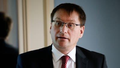 Valiant-CEO Ewald Burgener an einer Medienkonferenz in Zürich. (Stefan Kaiser (13. Februar 2020))