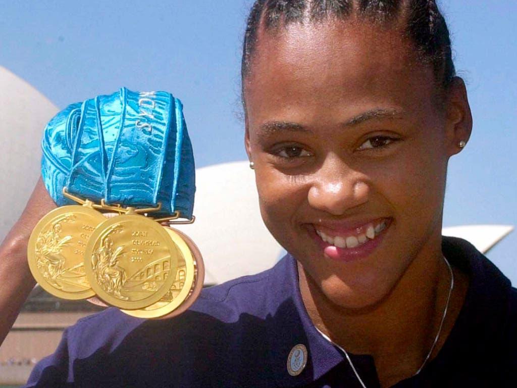 Marion Jones gewann an den Olympischen Spielen in Sydney fünf Medaillen, die ihr später aberkannt wurden