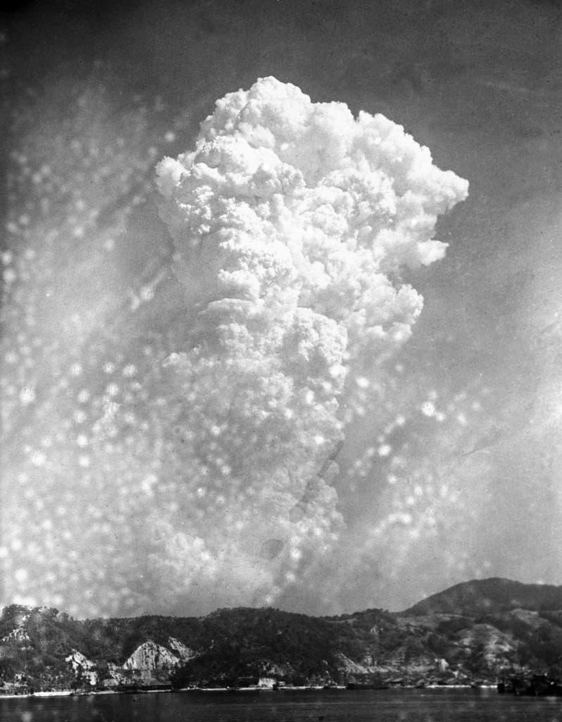 Am 6. August 1945, um 8.15 Uhr, wurde die Bombe über Hiroshima abgeworfen.