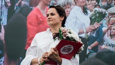 Fordert Weissrusslands Präsidenten Lukaschenko heraus: die 37-jährige Hausfrau Swetlana Tichanowskaja. (Tanya Kapitonova/Getty Images)