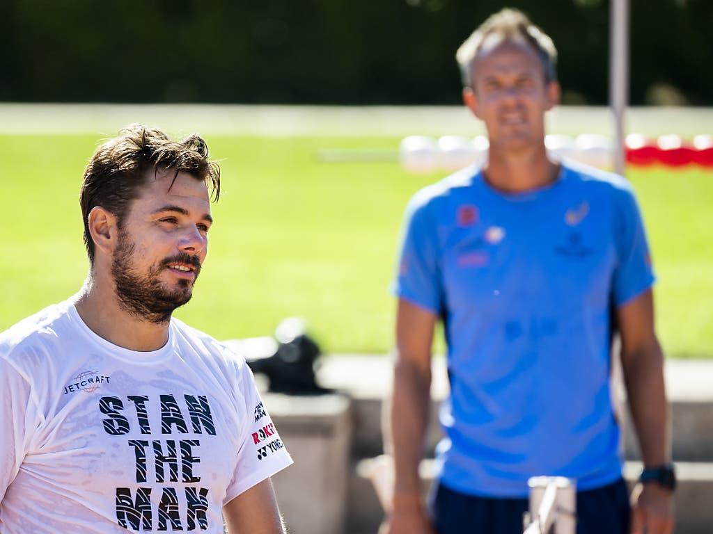 Haben noch viel vor: Stan Wawrinka und sein Coach Magnus Norman