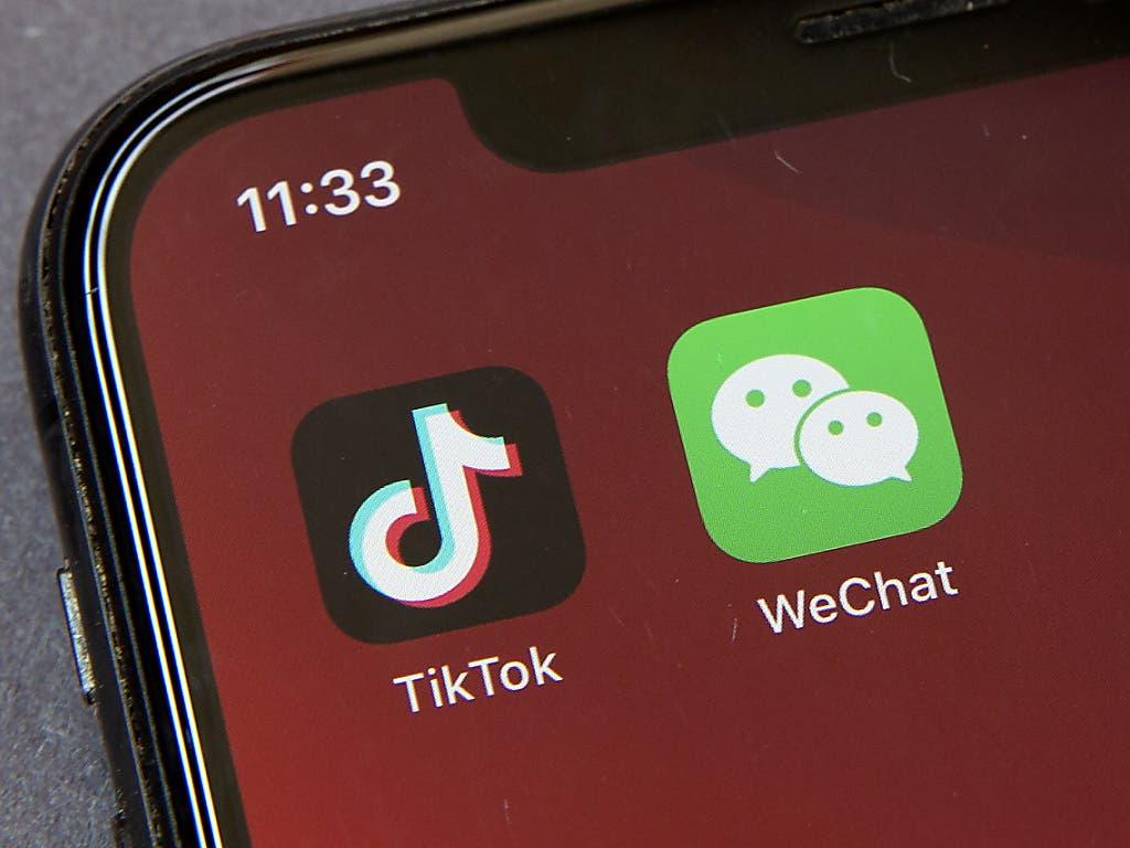 Die chinesisch dominierten Firmen TikTok und WeChat stehen unter grossem politischen Druck in den USA.