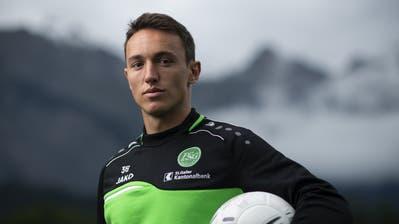 Nach 155 Super-League-Spielen ist Schluss: Captain Silvan Hefti verlässt den FC St.Gallen in Richtung Bern. (Gian Ehrenzeller/Keystone)
