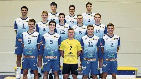 Die zweite Mannschaft von Volley Amriswil. Welche zwei Spieler des NLB-Teams positiv getestet wurden, will der Verein nicht sagen. (Bild: PD)