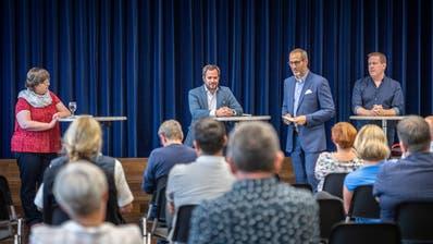 Mechthild Täschler, Martin Lorenz und Andreas Schreiber im Podiumsgespräch mit Patrick Eich. ((Bild: Andrea Stalder))