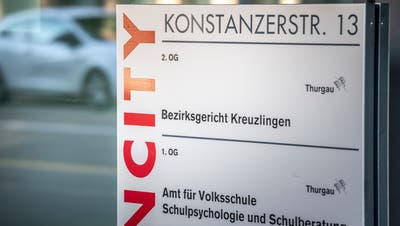Eingang zum Bezirksgericht Kreuzlingen an der Konstanzer Strasse 13. (Andrea Stalder)