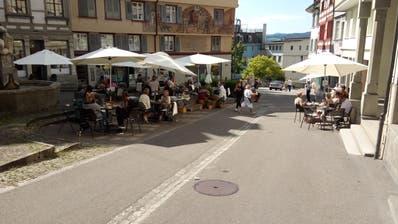 Auf dem Bärenplatz stand früher die Stadtmetzg, und vor ihm das Schneckentor (Bild: Adrian Zeller)
