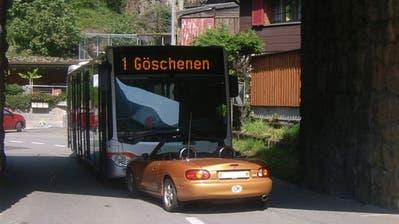 Die Unfallstelle beim Durchstich in Erstfeld. (Bild: Kantonspolizei Uri)