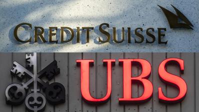 Kommt es zur Grossfusion der Grossbanken? – Ein Medienbericht vom Montag heizt Spekulationen an. Die UBS und Credit Suisse schweigen. (Montage: CH Media/Bilder: Keystone)