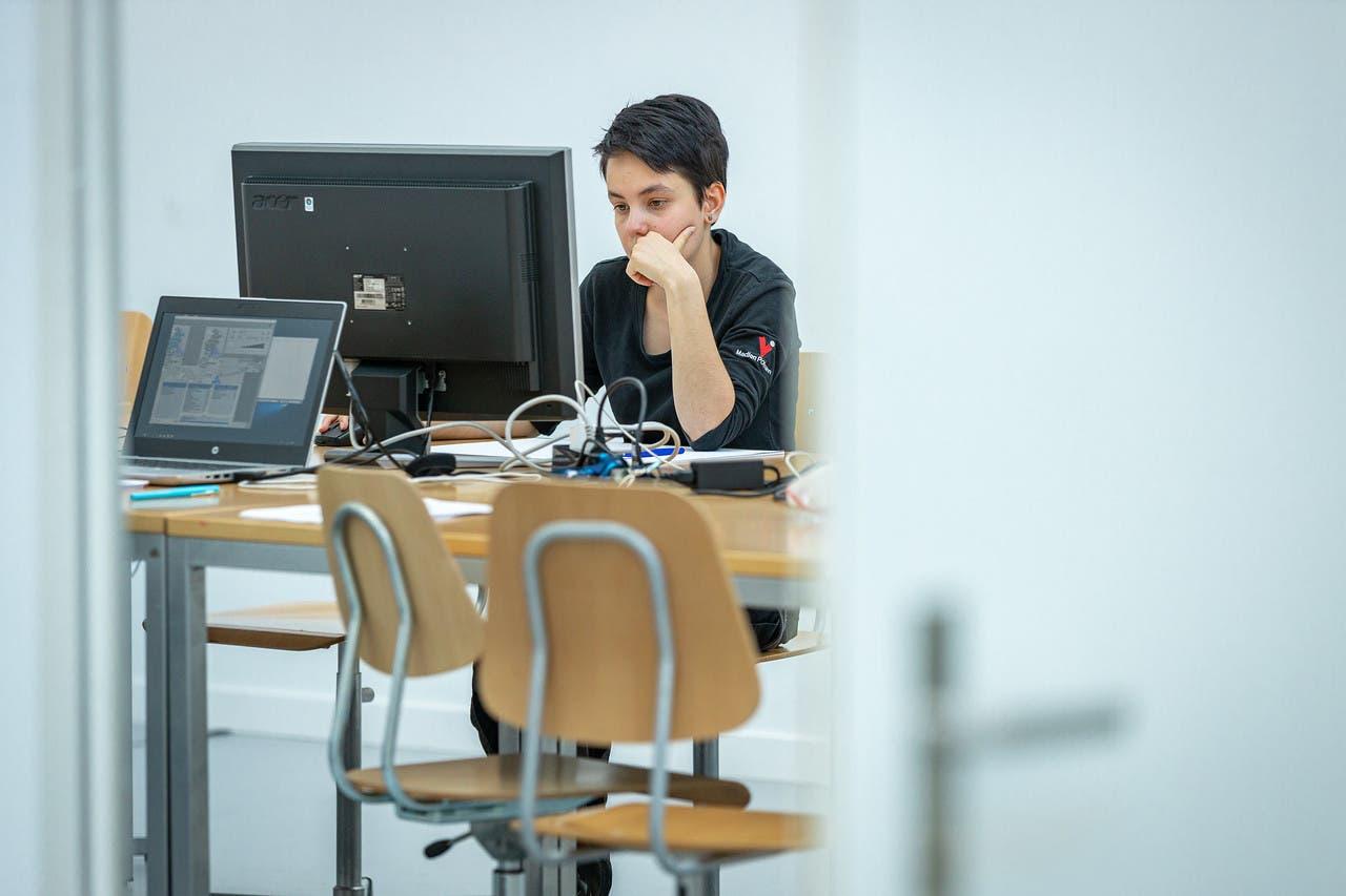 Madlen Portmann, Drucktechnologin, siegte in ihrem Beruf.