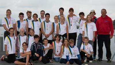 Das Team des Kanu-Clubs Romanshorn konnte an den Schweizermeisterschaften zahlreiche Medaillen erringen. (Stephan Steger)