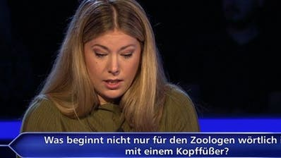 Fabienne Liese brachte Günther Jauch bei «Wer wird Millionär» ins Schwitzen. (Screenshot/RTL)