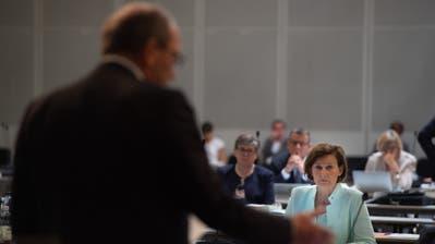 Regierungspräsident Bruno Damann wirbt im Rat für den Kurs der Regierung. (Bild: Benjamin Manser (16.September 2020))