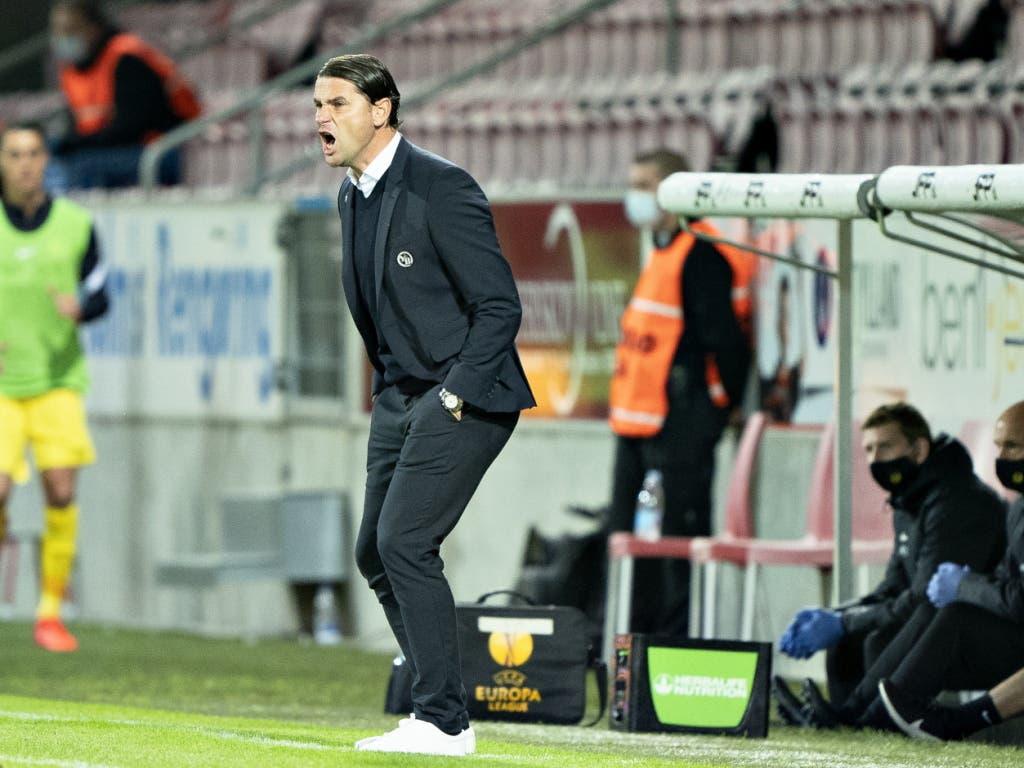 Trainer Gerardo Seoane versuchte alles, aber er konnte seine Spieler nicht mehr aus der Resignation wecken