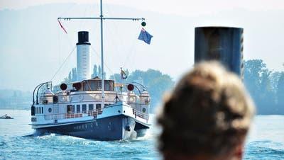Das Dampfschiff «Hohentwiel »auf dem Bodensee. (Max Eichenberger)