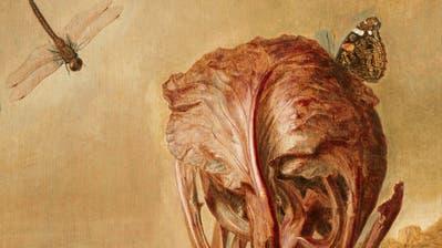Herbstliches Kunststücklein: «Pilze (Stillleben mit Schwammerlnund Flasche)» malte der Wiener Künstler Koloman Moser 1909. Öl auf Leinwand, 49,5 x 50 cm. (Akg-Images / akg-images)