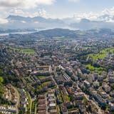 Blick auf die Stadt Kriens vom Sonnenberg her fotografiert. (Patrick Hürlimann (15. August 2020))