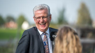 Der Bütschwiler Gemeindepräsident Karl Brändle zeigte sich am Tag der Eröffnung gut gelaunt. (Bild: Michel Canonica (Bütschwil, 17. September 2020))