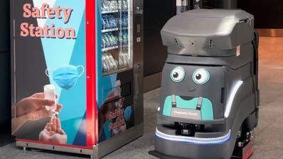 Selecta-Automaten mit Hygienemitteln und ein Putzroboter sind am Flughafen Zürich bereits im Einsatz. Reicht das für ein Top-Rating? (Flughafen Zürich AG)
