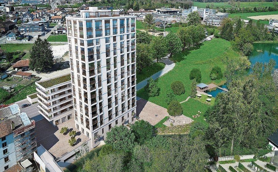 Aussenansicht: Die Überbauung Mühle umfasst 44 Wohnungen.