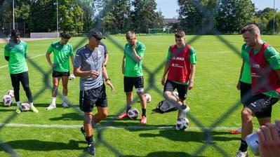 Bis auf die verletzten Nicolas Lüchinger und Lorenzo Gonzalez sind alle FCSG-Spieler fit. (Andy Mueller / freshfocus)