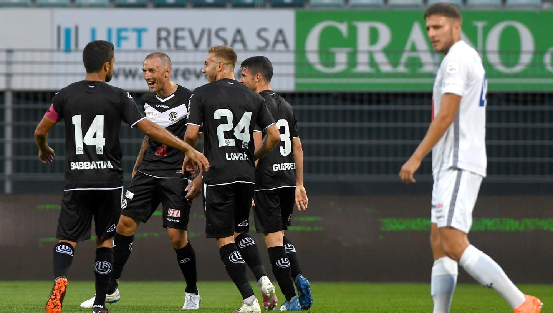 Mattia Bottani erzielt gegen Torhüter David Zibung das Tor zum 2:0. (Bild: Martin Meienberger)