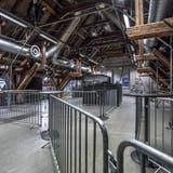 Gewöhnungsbedürftig, aber notwendig und effizient: Wegen dem Corona-Sicherheitskonzept ist der Publikumsraum des Konzertsaals in der Schüür in Sektoren unterteilt. (Bild: Pius Amrein (Luzern, 1. September 2020))