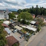 Das Areal Industriestrasse wird in den nächsten Jahren von mehreren Wohnbaugenossenschaften überbaut. (Bild: Dominik Wunderli(Luzern, 2. September 2020))