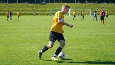 Bronschhofen-Stürmer Philipp Roth erzielte den einzigen und entscheidenden Treffer in der 78. Minute. (Bild: Tim Frei (St. Gallen, 8. August 2020))