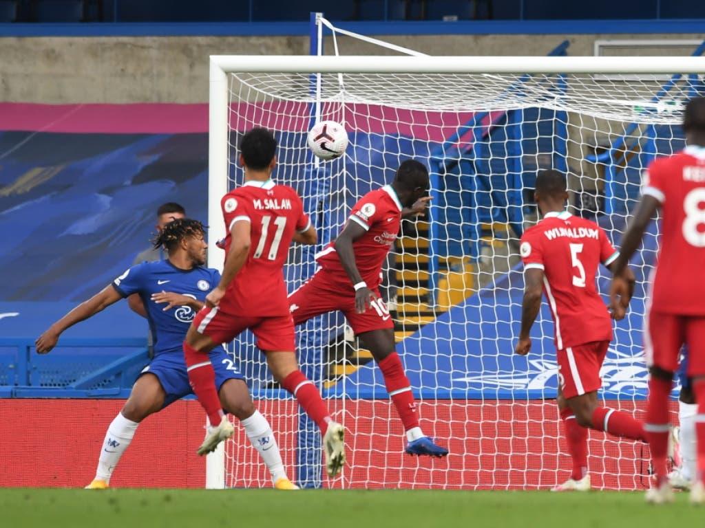 Sadio Mané erzielte den Führungstreffer für Liverpool mit dem Kopf