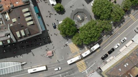 Die Vorlage sieht eine Neugestaltung von Marktplatz und Bohl vor. (Visualisierung: PD)