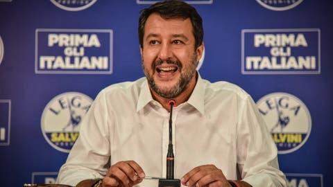Matteo Salvini,das Gesicht der Rechten in Italien, während einer Medienkonferenz zu den Resultaten der Regionalwahlen. (Bild: Matteo Corner/EPA (Mailand, 21. September 2020))