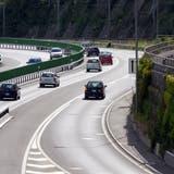 Die Strecke zwischen dem Loppertunnel und dem Anschluss Sarnen wird gesperrt sein. (Bild: Markus Von Rotz / Neue Obwaldner Zeitung)