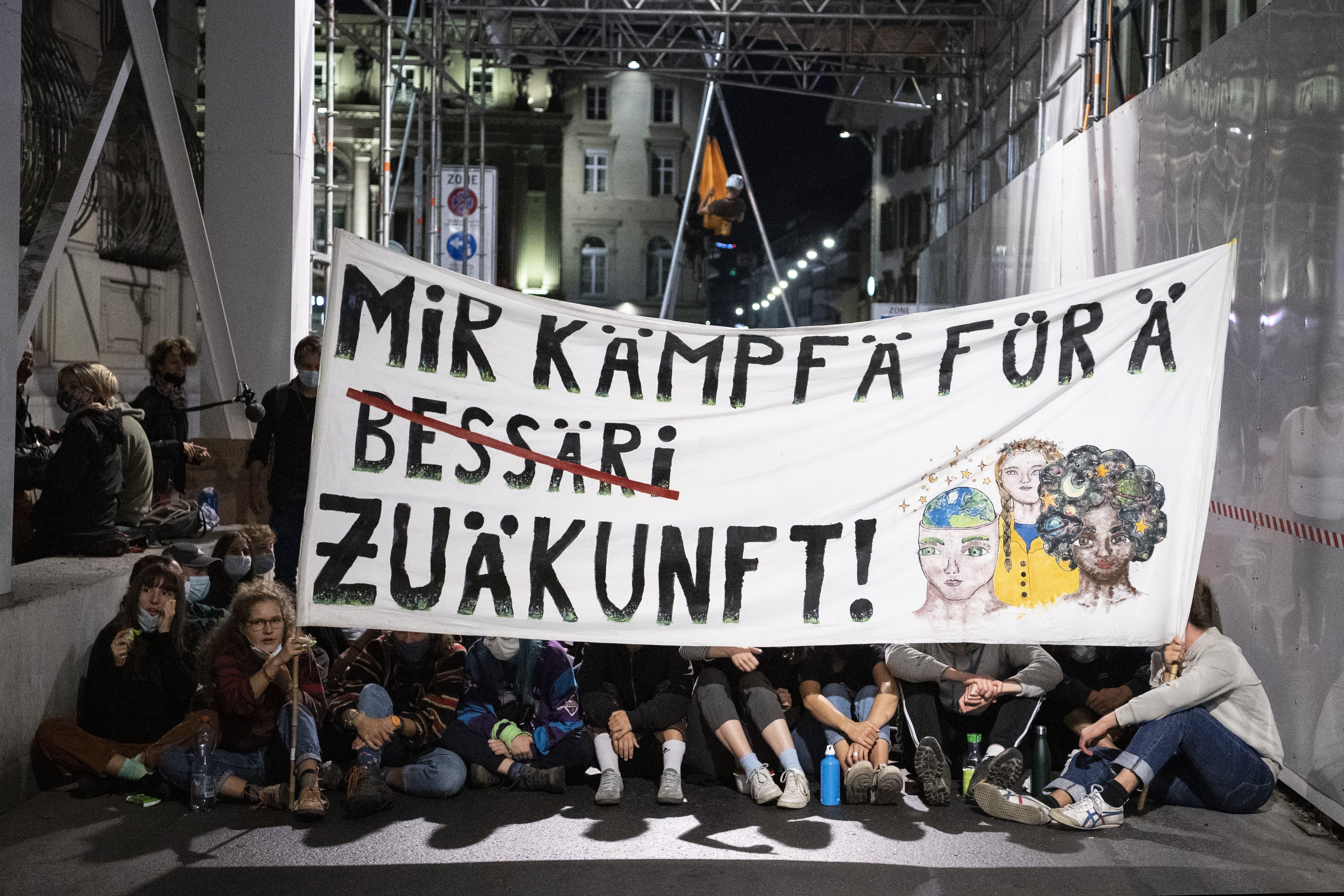 Protest knapp ein Jahr nach der grossen Klimademonstration.