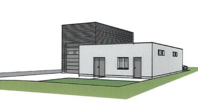 Eine Visualisierung des geplanten Neubaus neben dem Areal der Kläranlage auf der Grossen Allmend. ((Bild: PD))