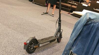 Neumodische Mobilität am Dienstagabend im St.Galler Stadtparlament. (Bild: Marcel Baur)