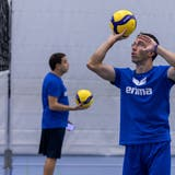 Alessandro Lodi (rechts) wird Volley Luzern extrem fordern. (Patrick Huerlimann)