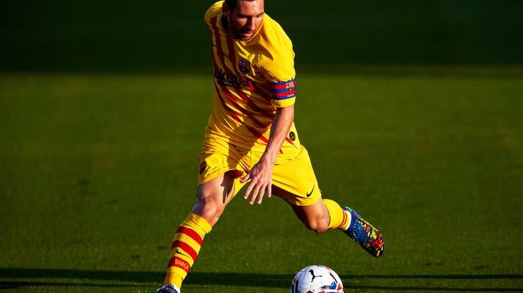 Lionel Messi bleibt für den FC Barcelona am Ball. (Keystone)