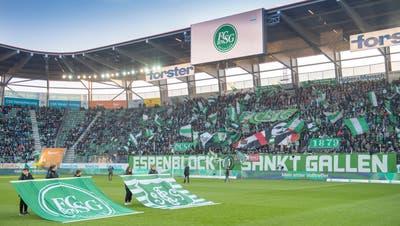 Normalerweise haben knapp 20'000 Zuschauerinnen und Zuschauer im Kybunpark Platz – am 4. Oktober sollen 10'000 Fans ins Stadion gelassen werden. (Bild: Urs Bucher (11. November 2018))