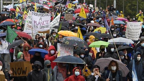Über 2000 Demonstrierende an Klimastreik in Bern