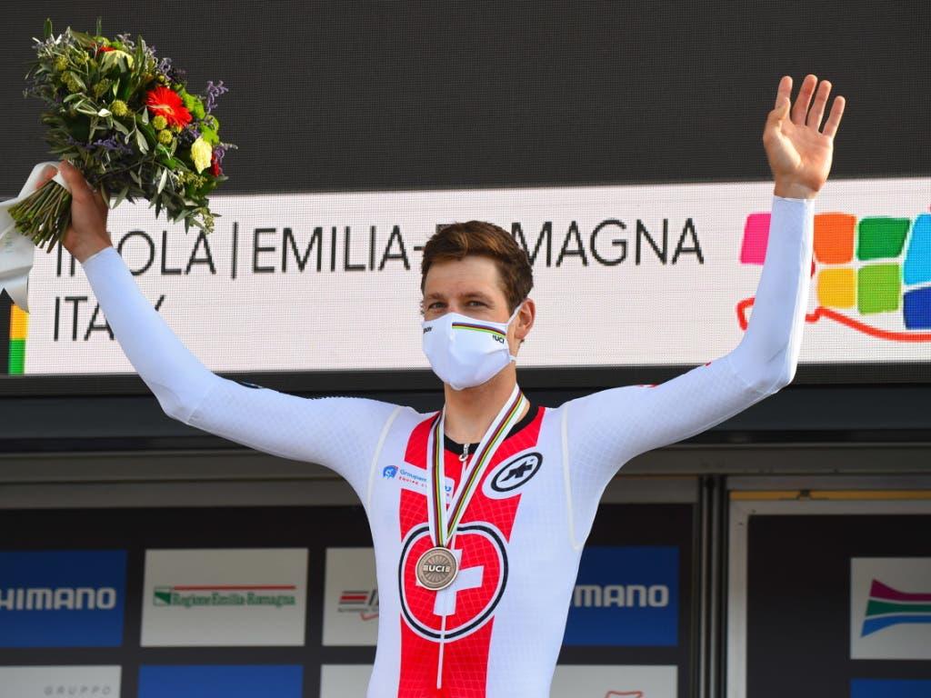 Stefan Küng ist der erste Schweizer seit Fabian Cancellara im Jahr 2013, der in einem WM-Zeitfahren eine Medaille gewann.